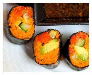 Суши с морковным жмыхом