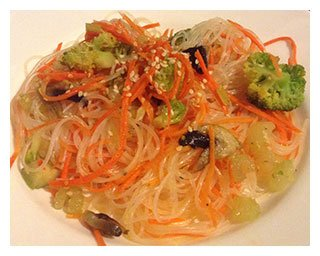 Стеклянная лапша с корейской морковью