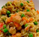 Рис с нутом и горошком