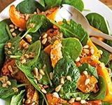 Салат со шпинатом и тыквой