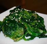 Острый салат со шпинатом