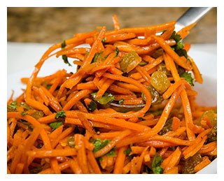 Морковный салат с изюмом