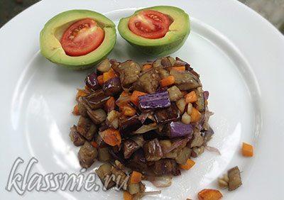 Жареные баклажаны с имбирем