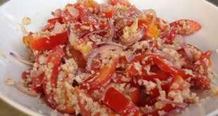 Салат из стружки с помидорами