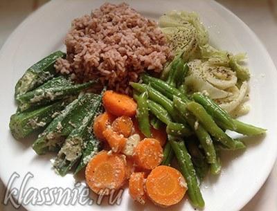 Сливочные овощи