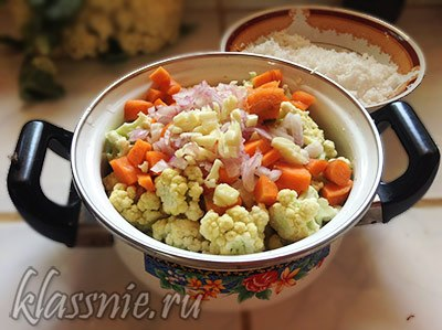 Морковь, чеснок и лук