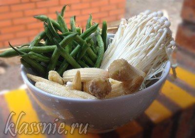 Овощи для обеда