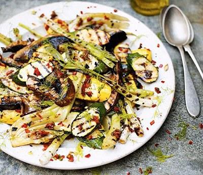 Салат из овощей на гриле от Джейми Оливера