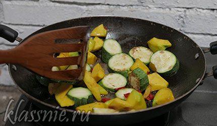 Жареные овощи с корочкой