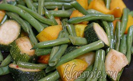 Жареные овощи на сковороде, рецепт с фото