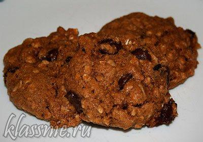 Шоколадное печенье из окары
