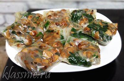 Спринг роллы из рисовой бумаги с грибами и овощами