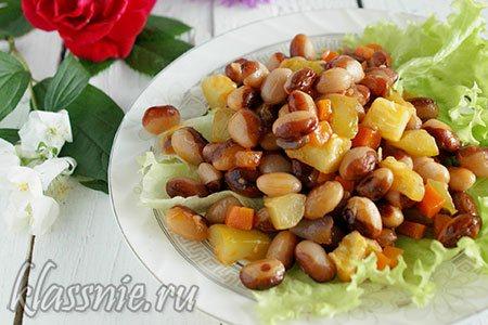 Рагу из овощей с фасолью