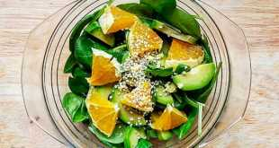 Салат из авокадо с апельсинами