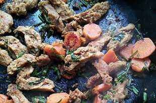 Жареное соевое мясо
