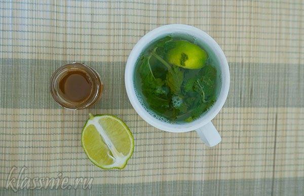 Чай из мяты с лаймом