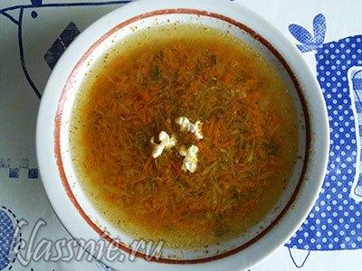 Суп из кабачка и моркови