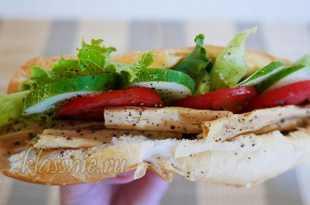 Сэндвич с соевой спаржей