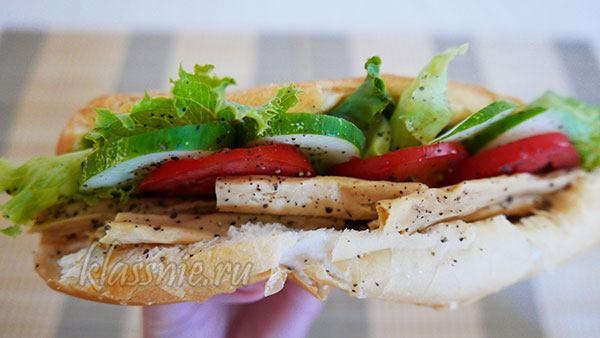 Сэндвич с соевой спаржей и овощами