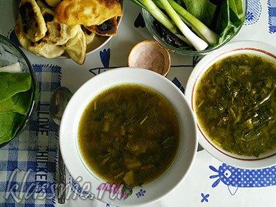 Зеленый суп с зеленью