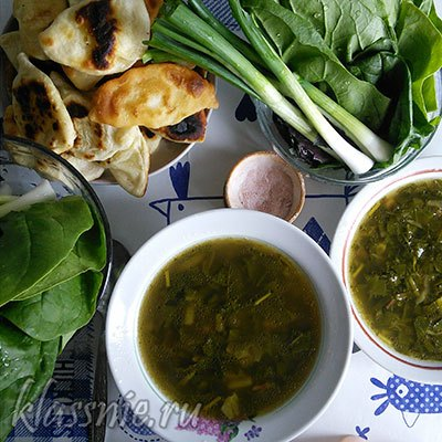 Суп из зелени для похудения: свекла, петрушка, лук, укроп