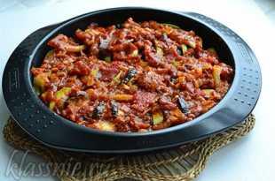 Овощи под томатной пастой