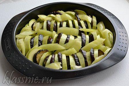 Овощи в форме для запекания