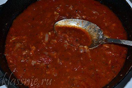 Соус из лука, чеснока и томатной пасты