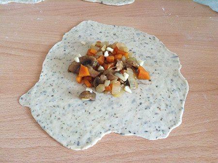 Начинка из грибов и овощей