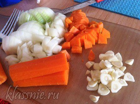 Лук, чеснок, морковь