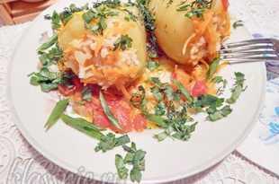 Фаршированные перцы овощами