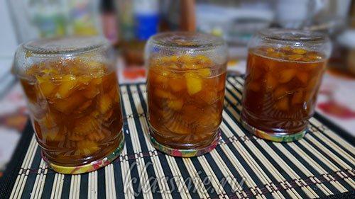 Варенье из персиков на зиму - пятиминтука