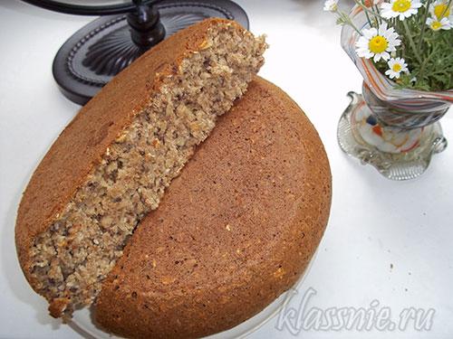 Цельнозерновой хлеб в мультеварке