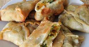 Пирожки из тыквы со шпинатом