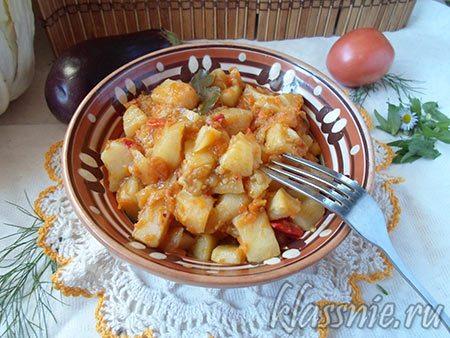 Тушеное рагу из картофеля