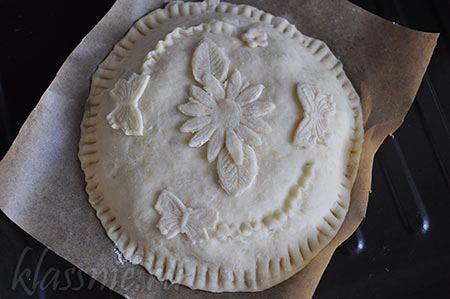Красивые узоры на пироге