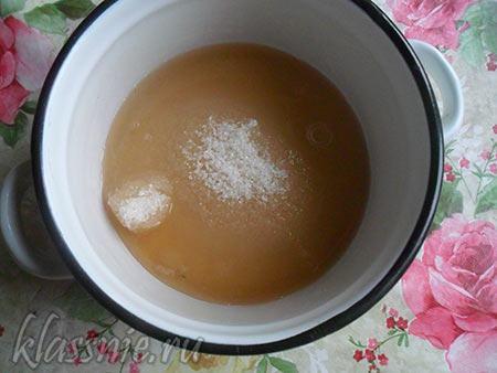 Сок с сахаром