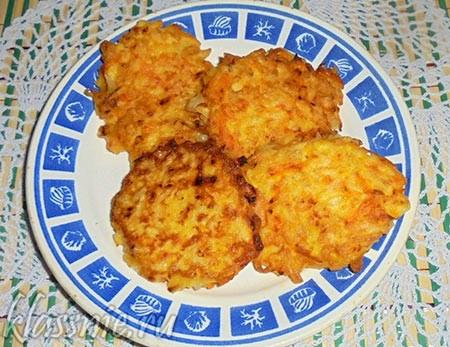 Картофельные деруны с тыквой