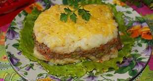 Картофельный пирог с чечевицей