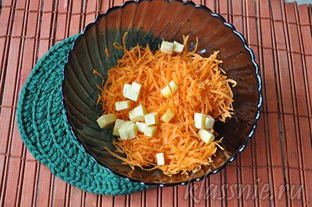 Смесь овоща и сыра