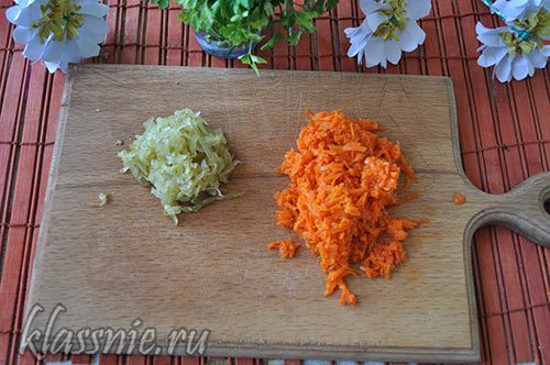 Морковь и огурцы