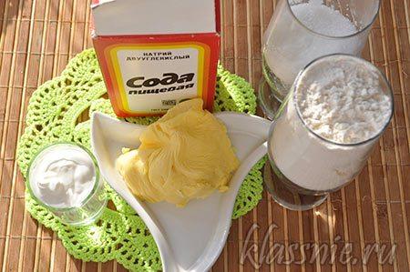 Ингредиенты для орешков