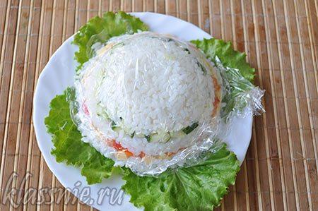 Рис в пищевой пленке
