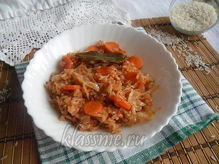 Греческое блюдо с рисом
