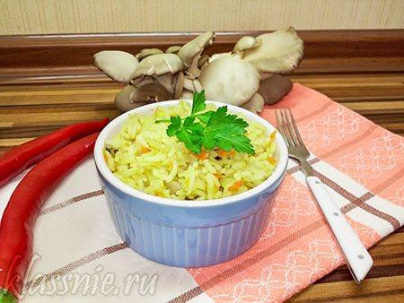 Рис с квашеной капустой и грибами