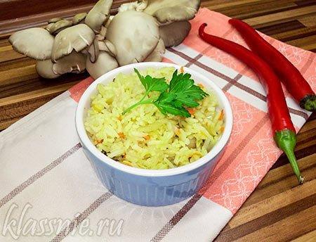 Рис с капустой и грибами
