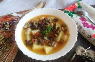 суп из гороха с сушеными грибами