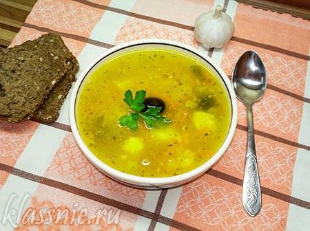 Суп гороховый с цветной капустой