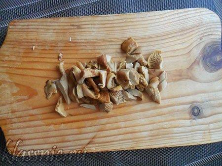 Порезанные грибочки