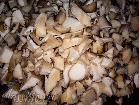 Обжаренные лук с грибами